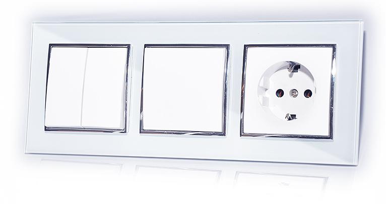 Einzigartig Schalter Steckdose Wechselschalter Wandschalter Rolladen Glas  OG25